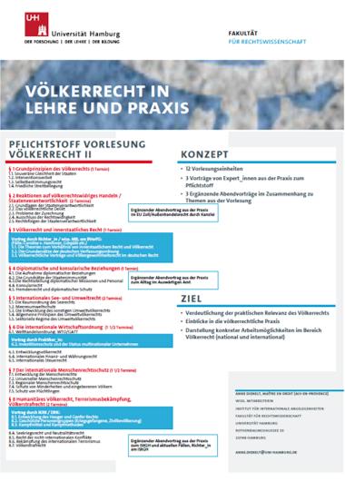 Poster Völkerrecht in Lehre und Praxis